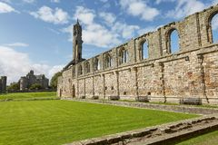 St. Andrews Cathedral in St. Andrews, Scotland royalty free stock images