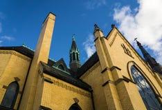 St Andrews Catholic Church Roanoke, Virginia, USA. Roanoke, VA – January 24th: Abstract view of St Andrews Catholic Church located in the Blue Ridge royalty free stock photo