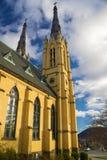 St Andrews Catholic Church Roanoke, Virginia, USA. Roanoke, VA – January 24th: Abstract view of St Andrews Catholic Church located in the Blue Ridge royalty free stock photography