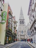 The St Andrews Church area in Dublin city centre near the Molly. DUBLIN, IRELAND - April 12th, 2018: the St Andrews Church area in Dublin city centre near the Stock Photo