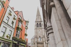 The St Andrews Church area in Dublin city centre near the Molly. DUBLIN, IRELAND - April 12th, 2018: the St Andrews Church area in Dublin city centre near the Royalty Free Stock Photo