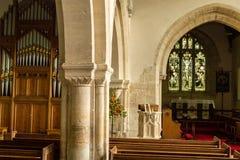 St Andrews Church Bell Capital D. England, Chedworth - October 21, 2016: St Andrews Church Bell Capital D stock photography