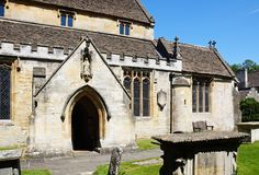 St Andrews church, Castle Combe. Stock Photography