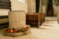 St Andrews Church Font fotografia de stock