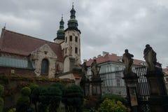 St Andrews Church i gammal stad av Krakow arkivbild