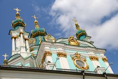 St Andrews Church in Kiev, Ukraine. St Andrews Church in Kiev City, Ukraine stock images
