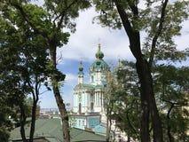 St. Andrews Church. In Kiev Ukraine royalty free stock photos