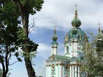 St. Andrews Church. In Kiev Ukraine royalty free stock image