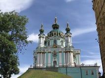 St. Andrews Church in Kiev. Ukraine stock photo