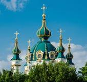St Andrews Church, Kiev, Ukraine. The church of St Andrew in Kiev royalty free stock images