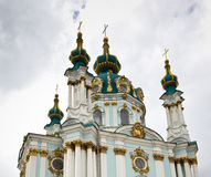 St Andrews Church, Kiev Ukraine. The beautiful St Andrews Church in Kiev, Ukraine royalty free stock images
