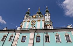 St Andrews Church in Kiev, Ukraine. St Andrews Church in Kiev City, Ukraine royalty free stock photography