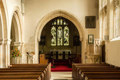 St Andrews Church Nave B. England, Chedworth - October 21, 2016: St Andrews Church Nave B stock photo