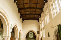 St Andrews Church Nave Ceiling. England, Chedworth - October 21, 2016: St Andrews Church Nave Ceiling stock photography