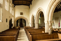 St Andrews Church Nave View From Altar B. England, Chedworth - October 21, 2016: St Andrews Church Nave View Frome Altar B royalty free stock photography