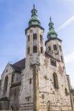 St. Andrews Church op Grodzka-Straat  Royalty-vrije Stock Afbeelding