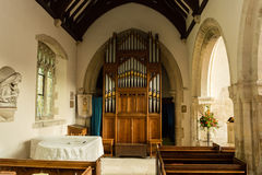 St Andrews Church Organ. England, Chedworth - October 21, 2016: St Andrews Church Organ royalty free stock photography