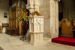 St Andrews Church Pulpit A fotografia stock