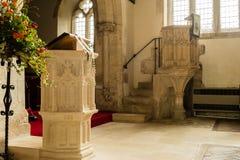 St Andrews Church Pulpit B fotografie stock