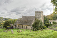 St Andrews Church South Facade HDR. England, Chedworth - October 21, 2016: St Andrews Church South Facade HDR royalty free stock photo