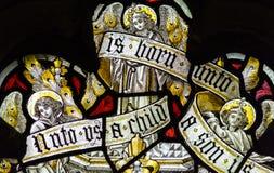St Andrews Church Stained Glass Close acima de G Fotografia de Stock
