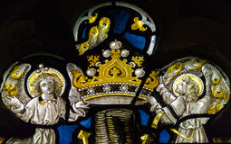 St Andrews Church Stained Glass Close up H Stock Photo