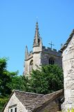 St Andrews church tower, Castle Combe. Stock Image