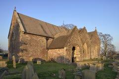 St Andrews Church, Woolaston. Evening Sun on St Andrews Church, Woolaston, Severnside, Gloucestershire royalty free stock photo