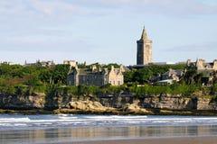 St Andrews city skyline. St Andrews in Scotland where golf originated here stock photo