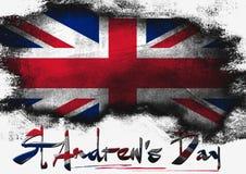 St Andrews Day du Royaume-Uni illustration de vecteur