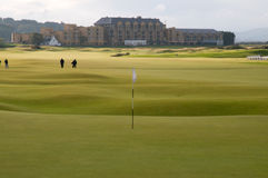 St Andrews Golf Course. The famous 18th hole of the golf course at St Andrews in Scotland royalty free stock image