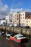 St Andrews Harbour durante la bajamar, Saint Andrews, Fife Fotos de archivo libres de regalías