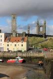 St Andrews Harbour at low tide, St Andrews, Fife Royalty-vrije Stock Fotografie
