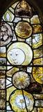 St Andrews Kościelny witraż mężczyzna w księżyc Obraz Royalty Free