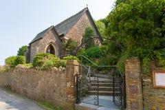 St Andrews kyrka Cawsand Cornwall England Fotografering för Bildbyråer