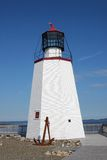 St. Andrews lighthouse. Lighthouse in St. Andrews by the Sea, New Brunswick, Maritimes, Canada stock photo
