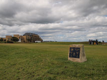 St Andrews Links Old Course golfcursus stock afbeeldingen