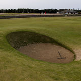 St Andrews Old Course. The Road Hole Bunker, old course, st andrews Stock Photo