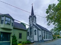 Free St Andrews Presbyterian Church And Hall, In Lunenburg Royalty Free Stock Photos - 130923008