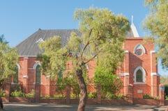 St Andrews Presbyterian Church in Kimberley. KIMBERLEY, SOUTH AFRICA - APRIL 5, 2015: The St Andrews Presbyterian Church in Beaconsfield in Kimberley was Royalty Free Stock Photos