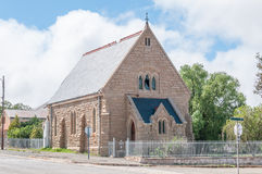St Andrews Presbyterian Church in Noupoort. NOUPOORT, SOUTH AFRICA - MARCH 8, 2016: The historic old St Andrews Presbyterian Church, built circa 1903, now a royalty free stock photos
