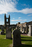 St. Andrews. Ruins of St. Andrews in Scotland royalty free stock photography