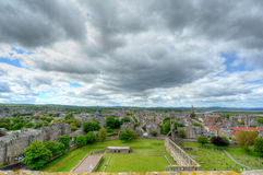 St Andrews, Scotland. Aerial View of St. Andrews, Scotland stock images
