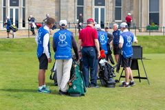 People playing golf at famous golf course St Andrews, Scotland Stock Images