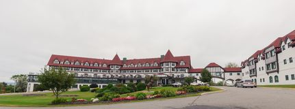 The Algonquin Resort is a historic luxury hotel. St. Andrews by the Sea, New Brunswick, Canada - September 18, 2016: The Algonquin Resort is a historic luxury royalty free stock photos