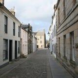 St Andrews Street. St Andrews deserted Street scene stock photo