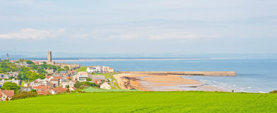 St Andrews viu do leste imagens de stock royalty free