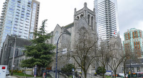 St Andrews Wesley United Church in Vancouver - VANCOUVER - CANADA - APRIL 12, 2017. St Andrews Wesley United Church in Vancouver - CANADA stock image