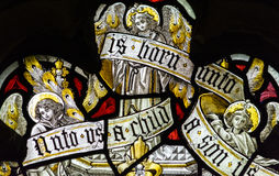 St Andrews witrażu Kościelny zakończenie w górę G Fotografia Stock