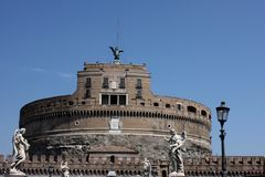 St Angel castle in Roma Royalty Free Stock Photos